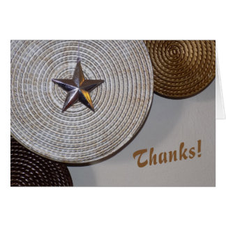 Thanks Note Card Star photo