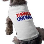 Thanks obama sleeveless dog shirt