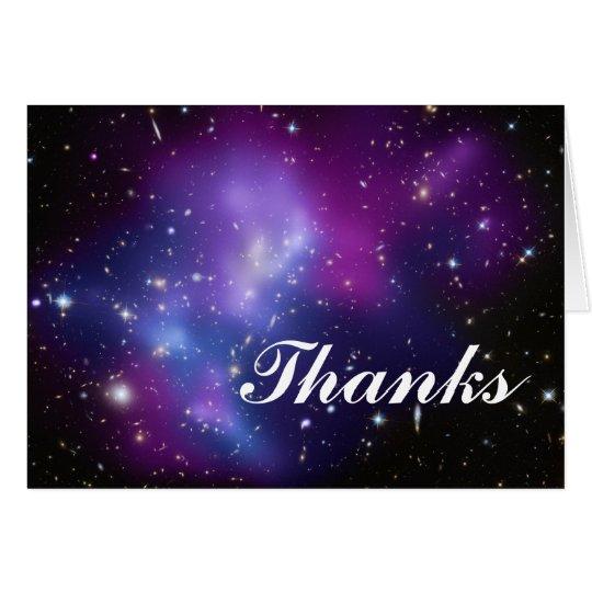 Thanks Purple Galaxy Cluster Card