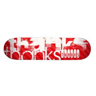 Thanks; Scarlet Red Stripes Skate Board Decks