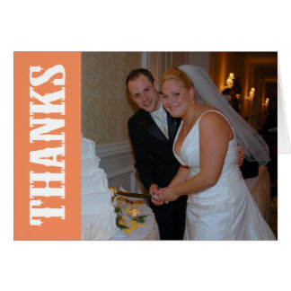 Thanks Shoot Out Thank You Notecard Orange Card