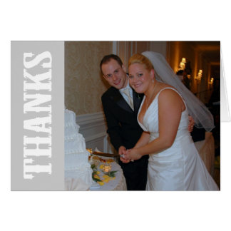 Thanks Shoot Out Thank You Notecard (Silver Gray) Stationery Note Card