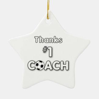 Thanks Soccer Coach Grass Field Ceramic Star Decoration