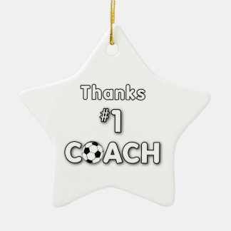 Thanks Soccer Coach Grass Field Christmas Ornament