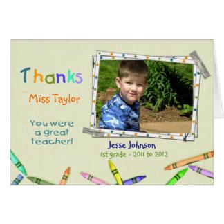 Thanks Teacher Custom Photo/Name Card