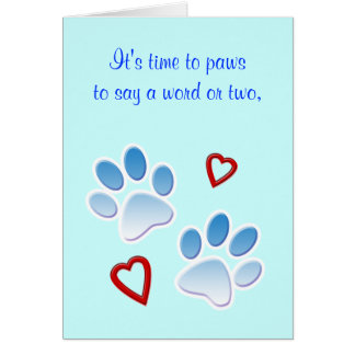 Thanks to a Dog Sitter or Walker Greeting Cards