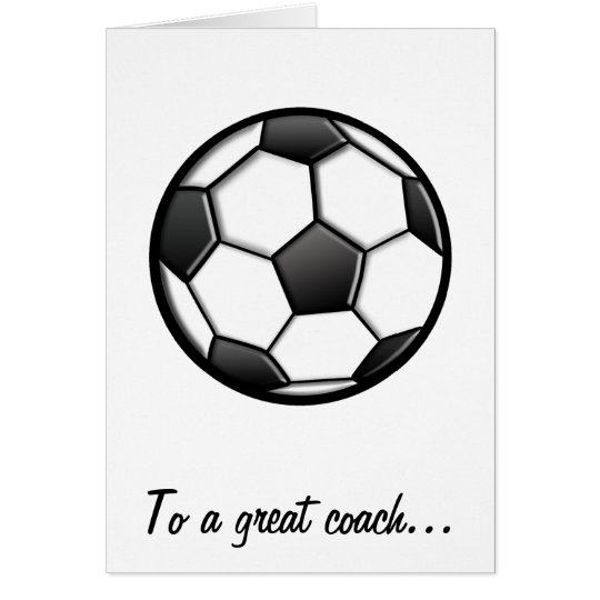 Thanks to a Soccer Coach for a Great Season Card