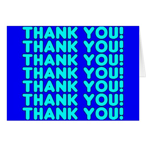 Thanks to Him  Cool Boys & Men Cyan Blue Thank You Card