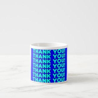 Thanks to Him  Cool Boys & Men Cyan Blue Thank You Espresso Mug