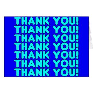 Thanks to Him  Cool Boys & Men Cyan Blue Thank You Greeting Card