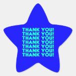 Thanks to Him  Cool Boys & Men Cyan Blue Thank You Stickers