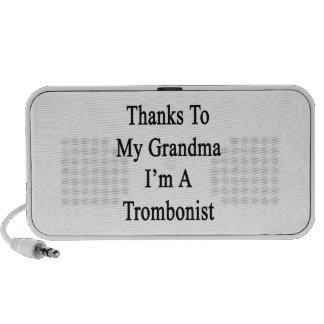 Thanks To My Grandma I'm A Trombonist Mini Speakers