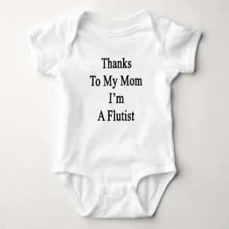 Thanks To My Mom I'm A Flutist Baby Bodysuit