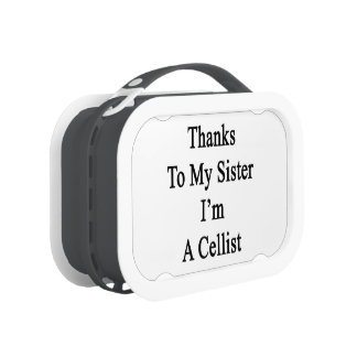Thanks To My Sister I'm A Cellist Lunch Box
