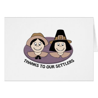 Thanks to our Settlers Cards