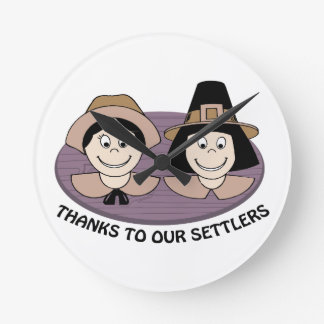 Thanks to our Settlers Clocks