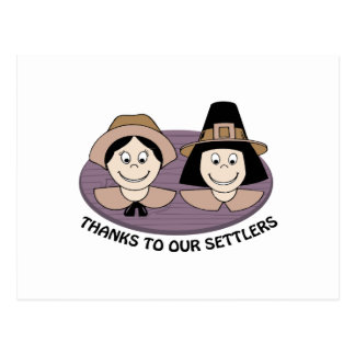 Thanks to our Settlers Post Card