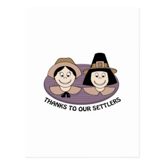 Thanks to our Settlers Postcard