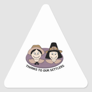 Thanks to our Settlers Triangle Sticker