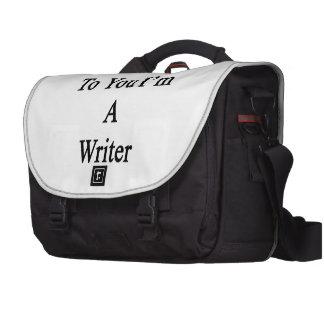 Thanks To You I'm A Writer Laptop Messenger Bag