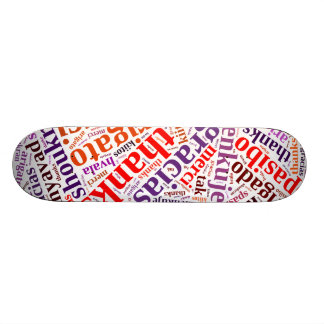 Thanks word cloud 18.4 cm mini skateboard deck