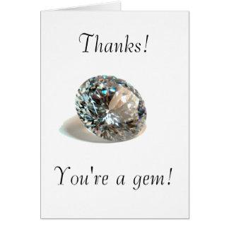 Thanks You re a gem Cards