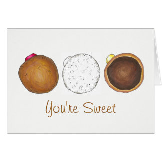 Thanks You're Sweet Filled Jelly Donut Doughnut Card