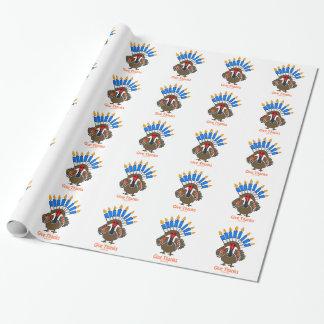 Thanksanukkah Thanksgivukkah  turkey menorah gift Gift Wrapping Paper