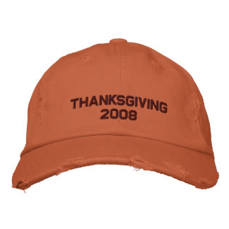 Thanksgiving - 2008 - Customized Embroidered Hats