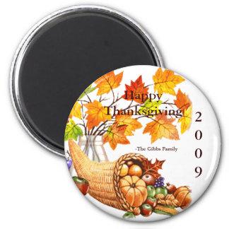 Thanksgiving 2009-Gibbs Family II 6 Cm Round Magnet