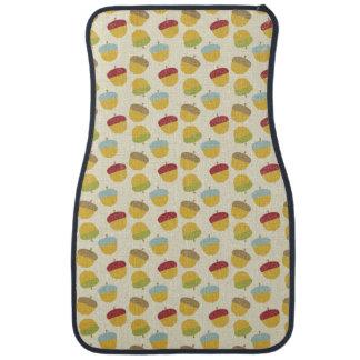 Thanksgiving Acorn Pattern Car Mat