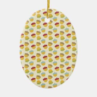 Thanksgiving Acorn Pattern Ornaments