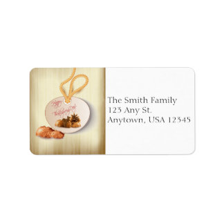 Thanksgiving Acorns Address Label