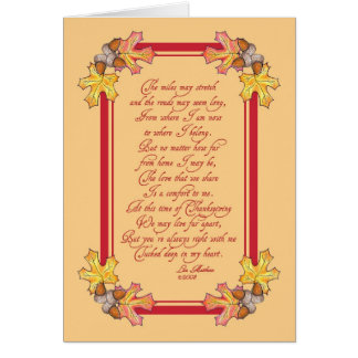 Thanksgiving acorns and leaves card