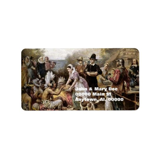 Thanksgiving Address Label