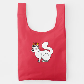 Thanksgiving Albino Raccoon with Indian Headdress Baggu Reusable Bag