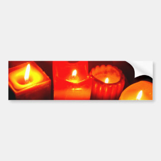 Thanksgiving and Autumn Candle Vignette Bumper Sticker