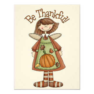 Thanksgiving Angel Card by SRF 11 Cm X 14 Cm Invitation Card