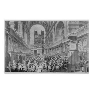 Thanksgiving at St. Paul's for George III's Poster