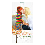 Thanksgiving Autumn Fall Leaves Pop Tree Greetings Picture Card