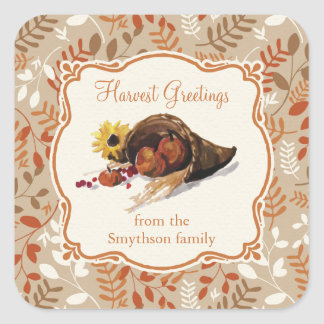 Thanksgiving Autumn Harvest Fall Foliage Sticker