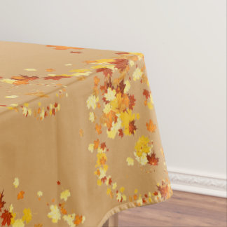 Thanksgiving Autumn Leaves Fancy Swirl Tablecloth