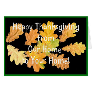 Thanksgiving 'Autumn Leaves' Greeting Card