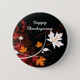 Thanksgiving autumn leaves-maple custom products 6 cm round badge