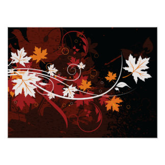 Thanksgiving autumn leaves-maple custom products poster