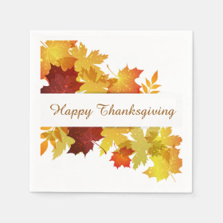 Thanksgiving Autumn Leaves Napkin Disposable Serviettes