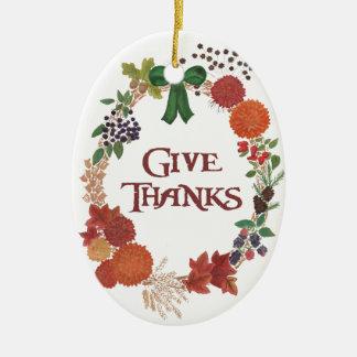 Thanksgiving Autumn Wreath to Customise Christmas Ornament