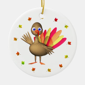 Thanksgiving Baby Turkey Christmas Ornament