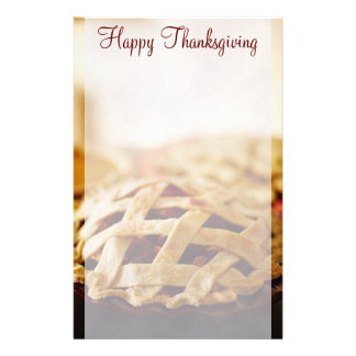 Thanksgiving Baked Pie Stationery
