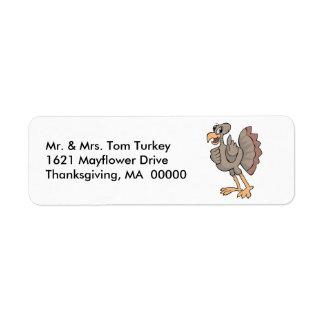 Thanksgiving Big Turkey Return Address Sticker